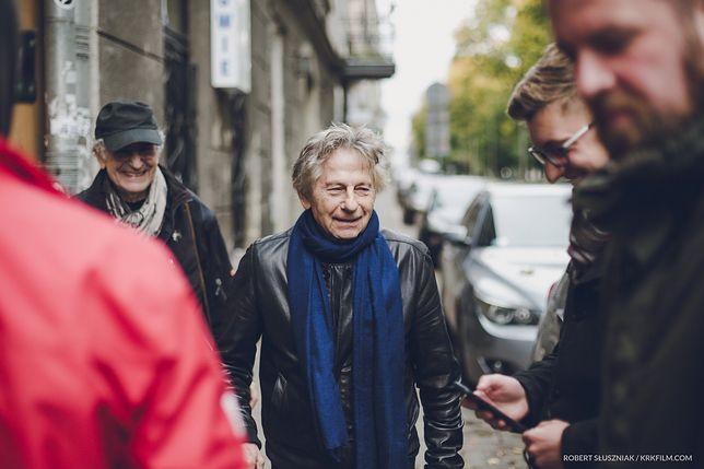 Roman Polański w czasie zdjęć do dokumentu
