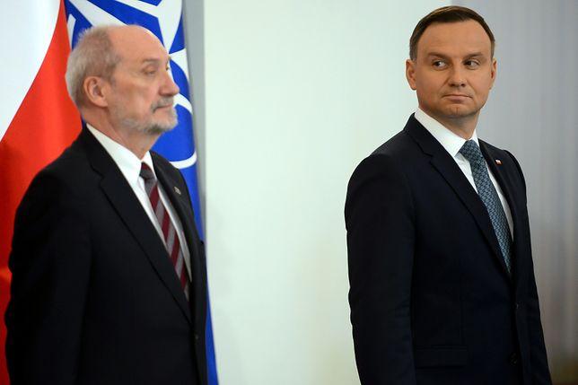 """Antoni Macierewicz pytany o konflikt z Pałacem Prezydenckim odparł, że go """"nie dostrzega"""""""