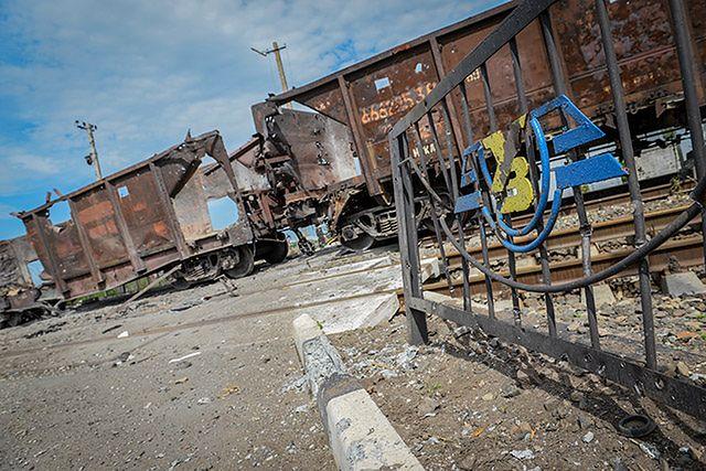 Pociąg pod ostrzałem - zobacz zdjęcia