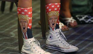 Skarpetki z wizerunkiem Trumpa to nie nowość w Stanach Zjednoczonych