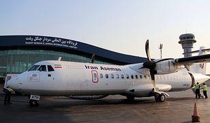Pasażerski samolot turbośmigłowy ATR 72 należący do linii Aseman