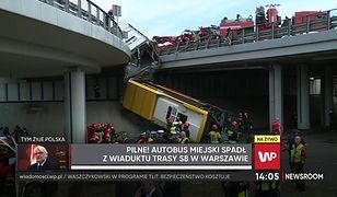 """Warszawa. Wypadek autobusu na S8. """"Akcja strażaków jest jak gra w ciężkie bierki"""""""