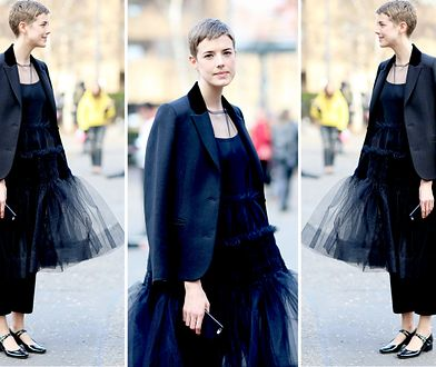 LOOK OF THE DAY: Agyness Deyn w nietypowej czerni