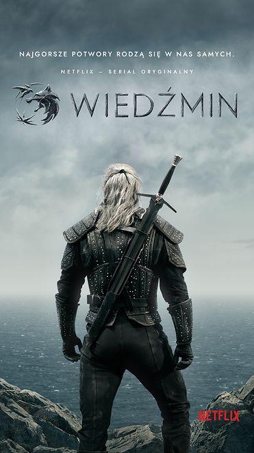 "Plakat serialu ""Wiedźmin"" produkcji Netflixa"