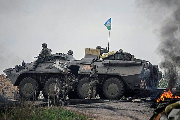 Ukraińskie wojska w pobliżu Słowiańska