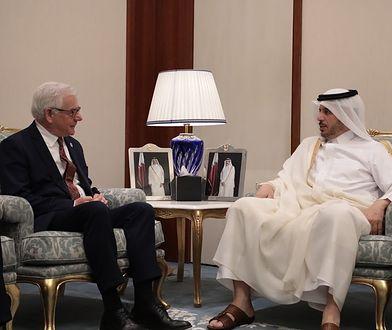 Minister spraw zagranicznych Jacek Czaputowicz i premier oraz minister spraw wewnętrznych Kataru J.E. Szejk Abdullah bin Nasser bin Khalifa Al Thani.