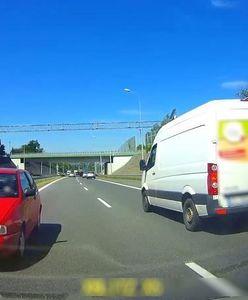 Bielsko-Biała. Przerażające nagranie z S1. 83-latek jechał pod prąd