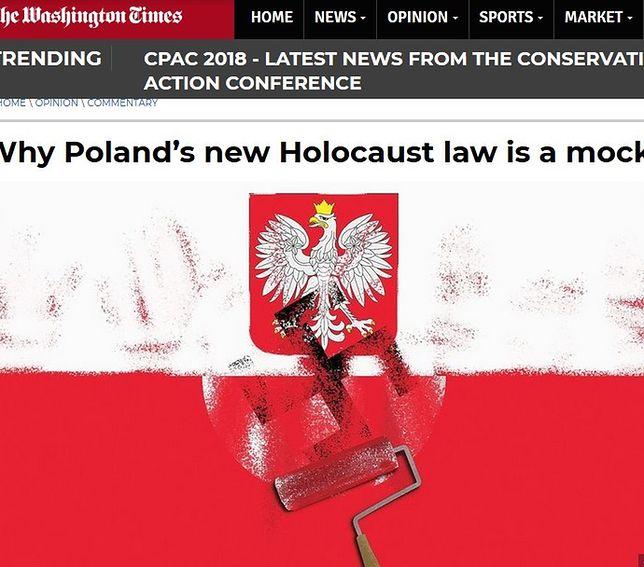 Skandaliczna okładka amerykańskiego dziennika. Polacy obwinieni o współudział w Holokauście