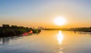 Time Lapse. Zachód słońca widziany z mostu Siekierkowskiego [WIDEO]