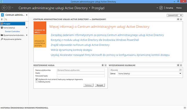 Centrum administracyjne usługi Active Directory