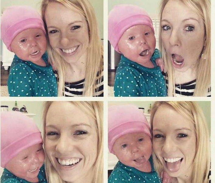 Brenna i jej mama Courtney