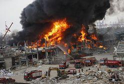 Bejrut. Ogromny pożar w porcie. Płonie skład ropy naftowej