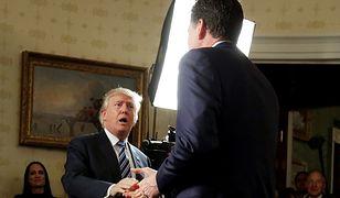 Donald Trump i były szef FBI James Comey