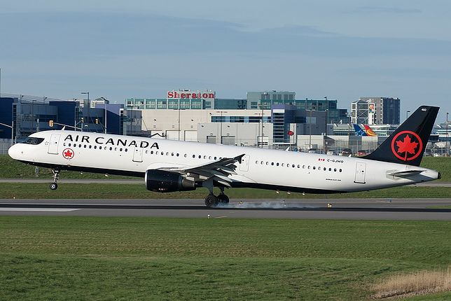 Groźny incydent samolotu Air Canada