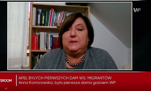 """Anna Komorowska o nieobecności Agaty Dudy na granicy. """"Można trochę spuścić z majestatu"""""""