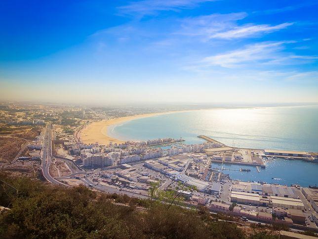 Widok z lotu ptaka na Agadir w Maroko