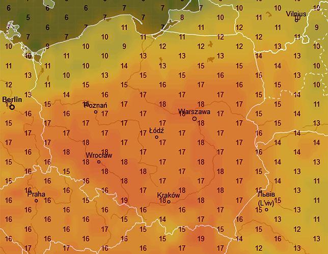 Najcieplej będzie w sobotę wczesnym popołudniem, a w niedzielę czeka nas znaczne ochłodzenie