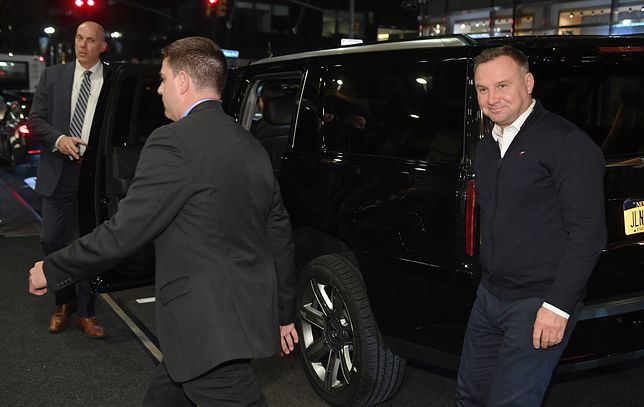 Prezydent Andrzej Duda po przylocie do Nowego Jorku