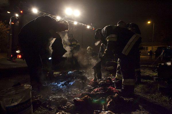 Mężczyzna spłonął w przyczepie kempingowej