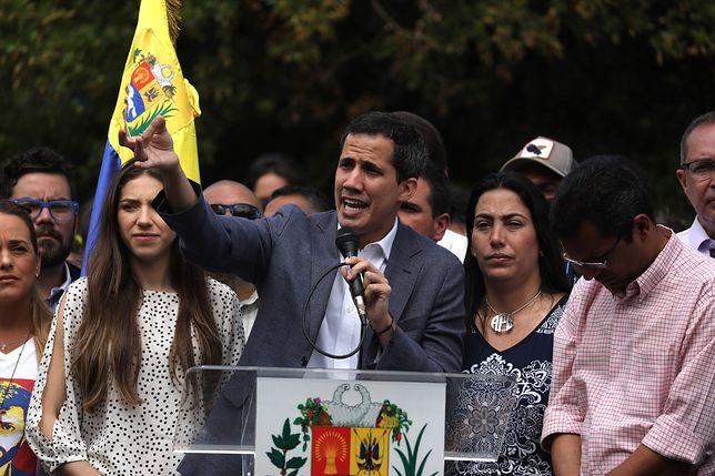 Tymczasowy prezydent Wenezueli Juan Guaido