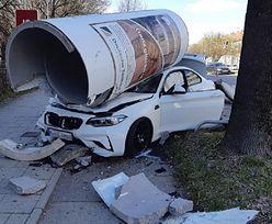 Fatalne skutki wyścigu ulicznego. 23-latek rozbił luksusowe BMW
