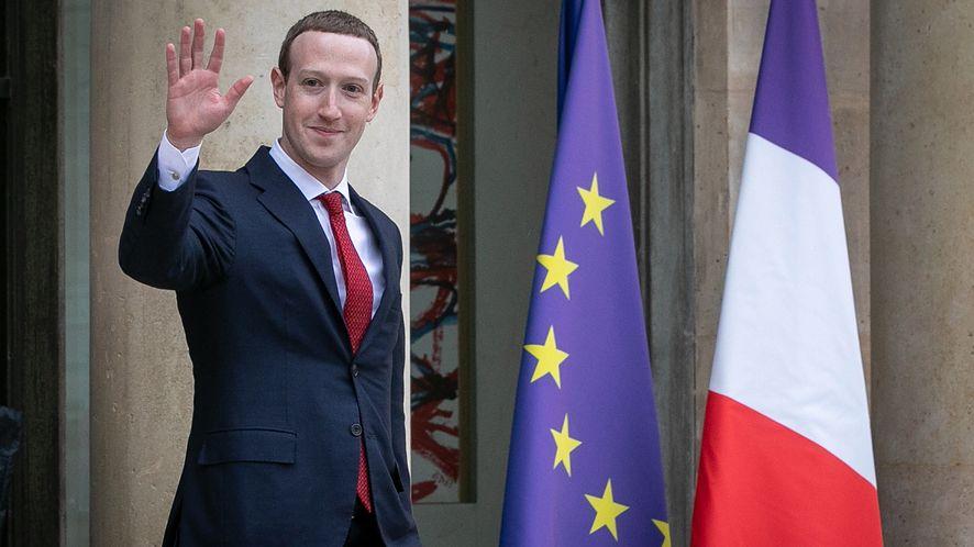 Mark Zuckerberg po wizycie w telewizji France 2 (Marc Piasecki / Getty)