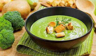 Krem z brokułów z grzankami