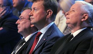 Mariusz Kamiński, Mariusz Błaszczak i Jarosław Kaczyński / fot. Jan Bielecki