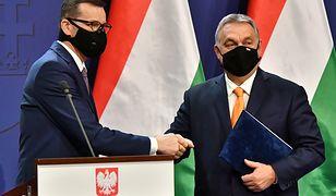 Premier Mateusz Morawiecki oraz premier Węgier Wiktor Orban, zdjęcie z czwartku