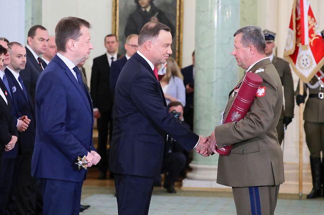 Prezydent Andrzej Duda wręczył 4 nominacje generalskie