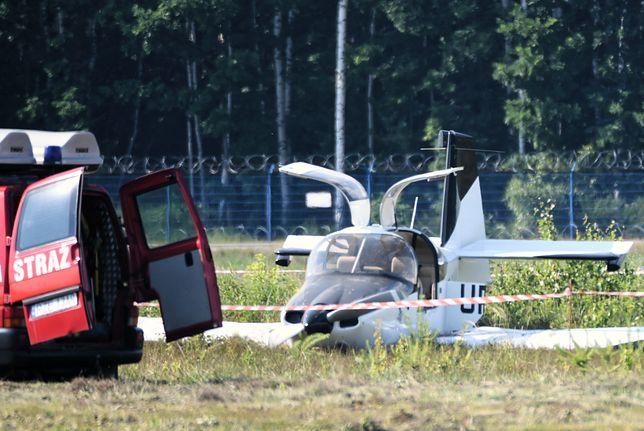 Ukraińska awionetka rozbiła się na lotnisku Rzeszów - Jasionka