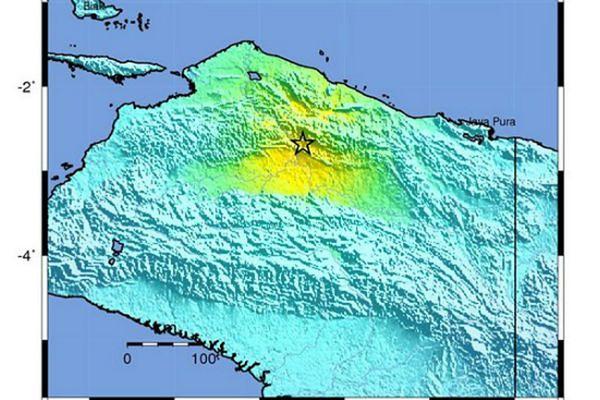 Silne trzęsienie ziemi w prowincji Papua w Indonezji