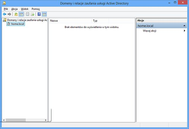 Domeny i relacje zaufania usługi Active Directory