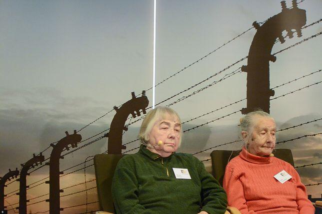 Oświęcim. Byłe więźniarki obozu Auschwitz-Birkenau Lidia Turovskaya i Ksenia Olkhova na spotkaniu z ocalonymi, 26 stycznia br.