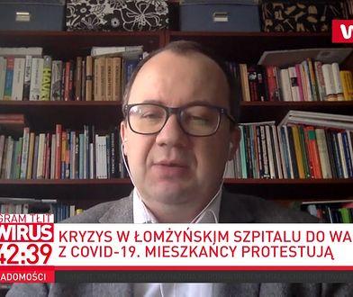 Koronawirus w Polsce i bunt ws. szpitala w Łomży. Adam Bodnar broni Bernadety Krynickiej