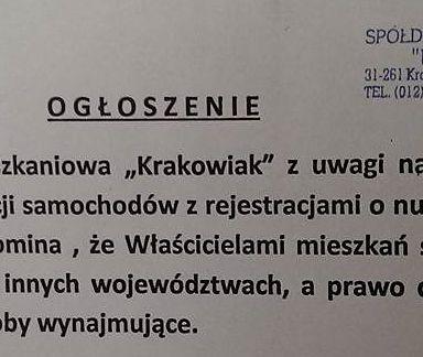 """Parkingowa wojna w Krakowie. Niszczą auta za """"niewłaściwy"""" postój"""