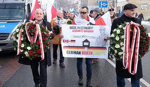 Na czele manifestacji narodowców stanął Piotr Rybak, skazany za spalenie kukły Żyda