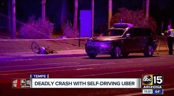 Tempe, Arizona – scena wypadku (źródło: zrzut ekranu ze streamingu telewizji ABC)