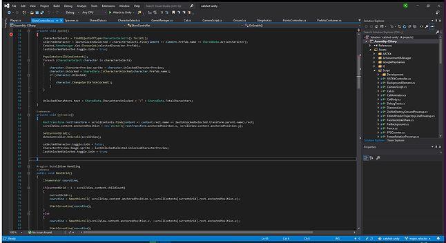 Visual Studio 2019 z ciemnym motywem