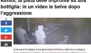 Włoskie media opublikowały wizerunki sprawców napadu w Rimini