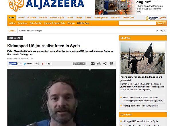 Porwany dwa lata temu amerykański dziennikarz Peter Theo Curtis uwolniony w Syrii