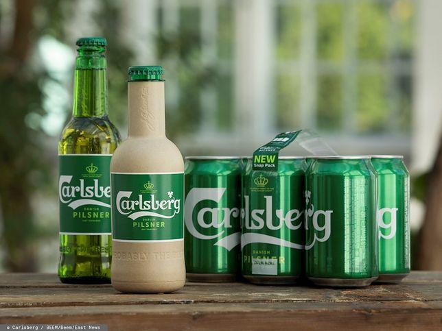 Zielona butelka od Carlsberg'a