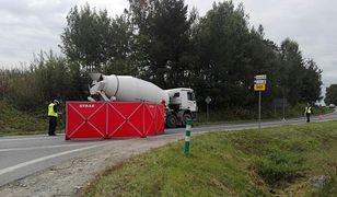 Miejsce wypadku na trasie Nowy Targ - Stary Sącz