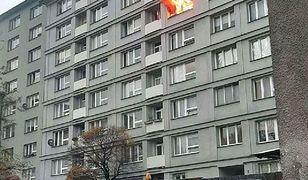 Warszawa. Pożar wybuchł w mieszkaniu przy ul. Płockiej