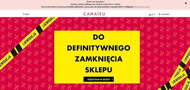 Warszawa. Sieć Camaïeu zamyka sklepy w Polsce.