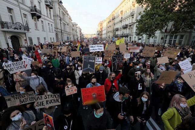 Blokada Warszawy. Protestujący na ulicach miasta
