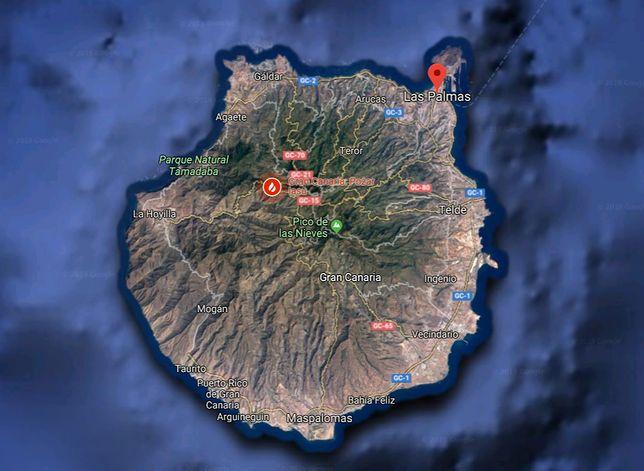 Gran Canaria. Pożar lasu