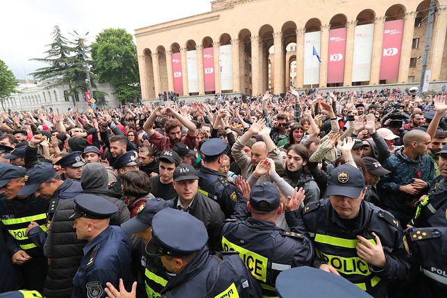 Protest w Tbilisi