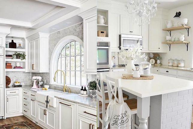 Biała kuchnia klasyczna sprawia wrażenie schludnej i przestronnej