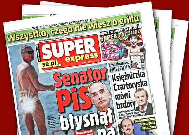 """Szokująca publikacja nagich zdjęć senatora ukazała się w """"Super Expressie"""""""